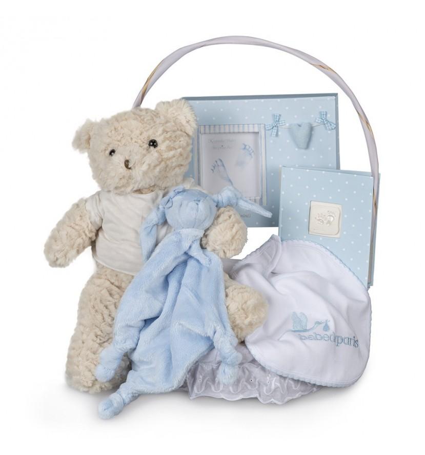 Baby Geschenkkorb Basic Erinnerungen Blau