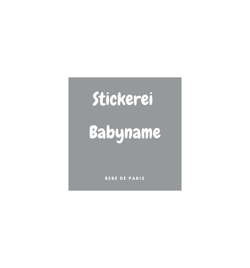 2 Stickereien Babyname