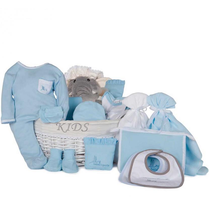 Baby Geschenkkorb Nach dem Krankenhaus Premium Blau