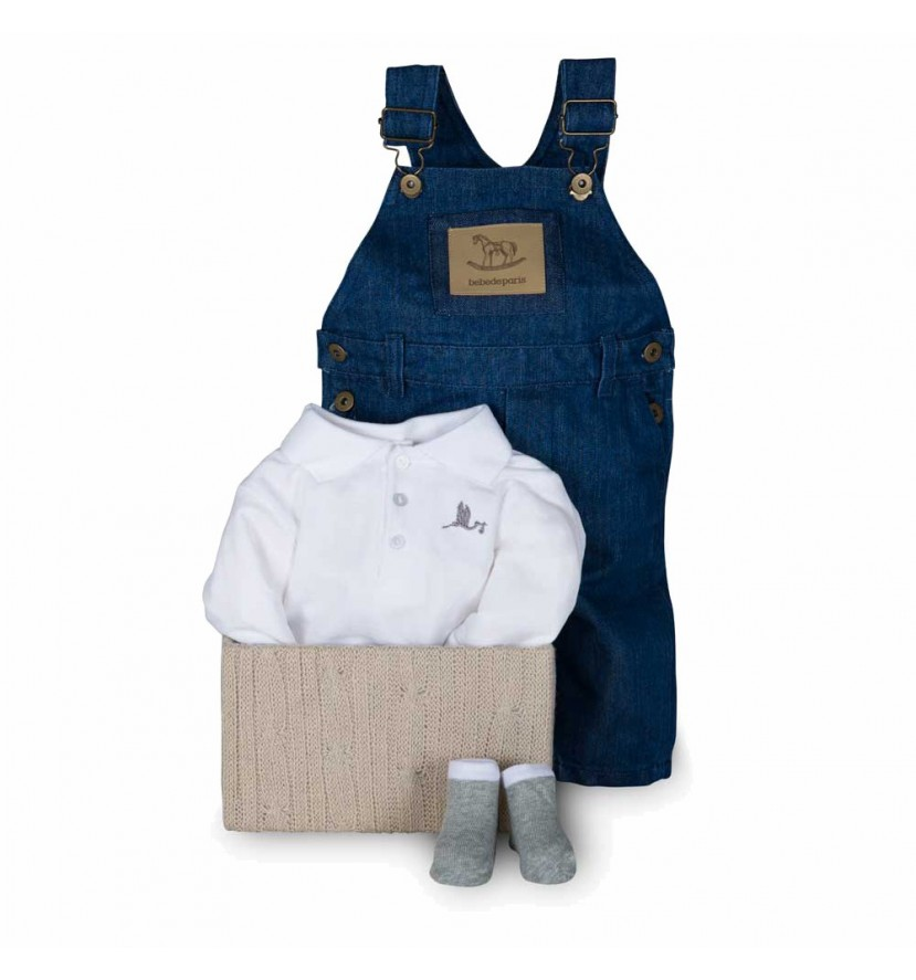 Baby Geschenkbox Happy Denim