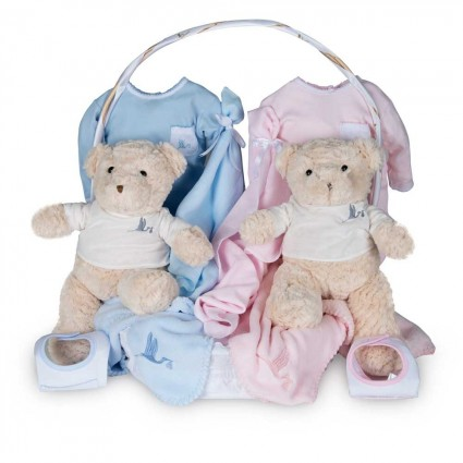 Baby Geschenkkorb Zwillinge Klassisch