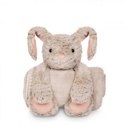 Babydecke mit Kaninchen Plüschtier