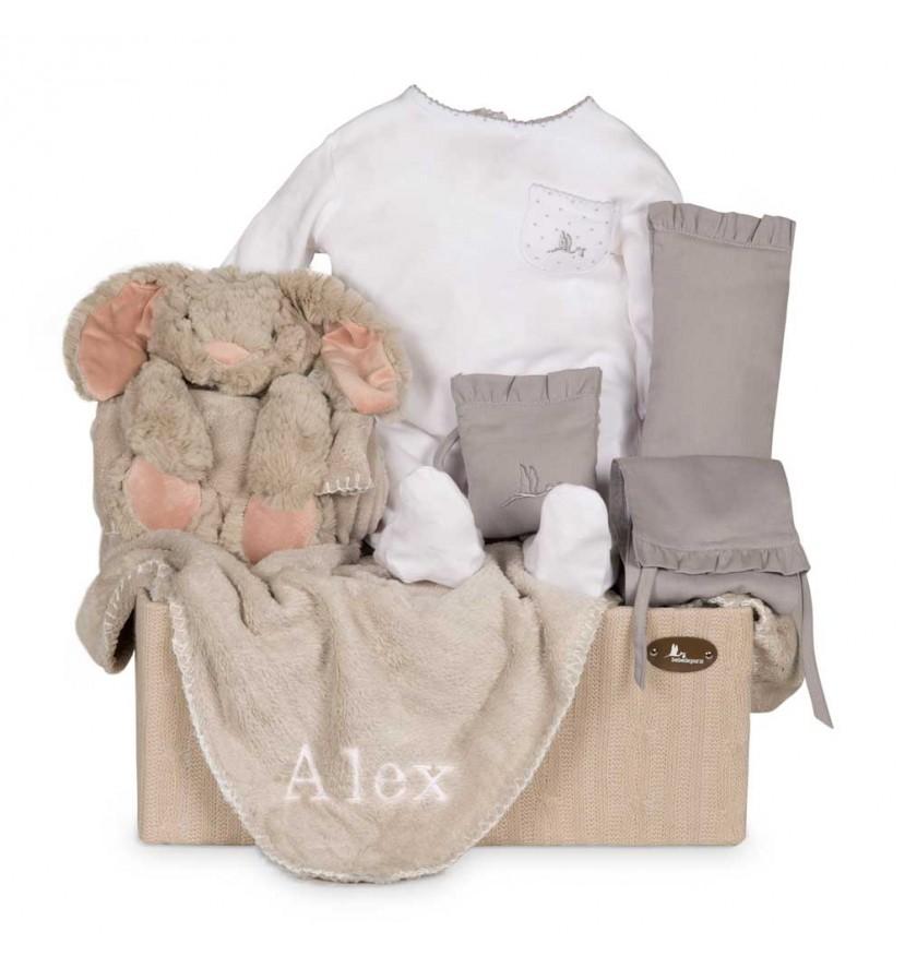 Baby Geschenkbox Puppy Bestickt