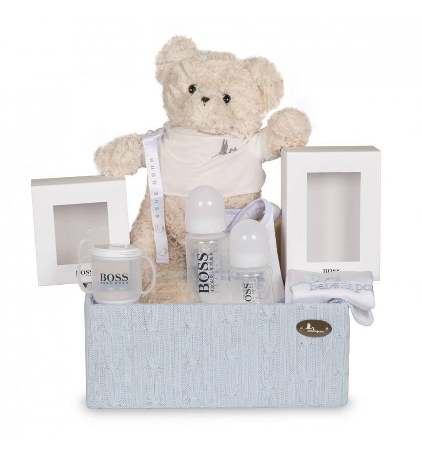 Baby Geschenkbox Hugo Boss mit Babyflaschen