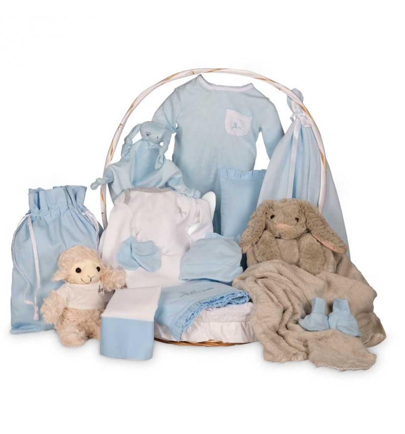 Grey Serenity Deluxe Baby Gift Basket