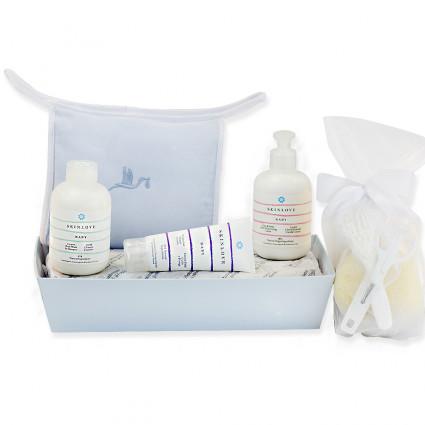 Set mit Pflegeprodukten für Babys