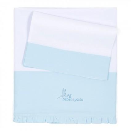 Bettlaken für die Wiege Blau