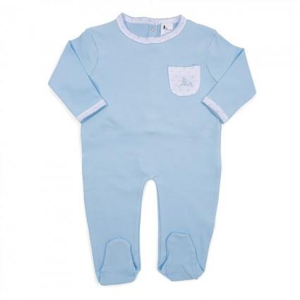 Baby Schlafanzug Sternchen Blau