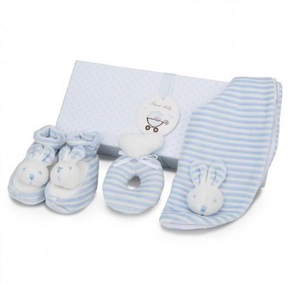 Baby Geschenkset Hase Blau
