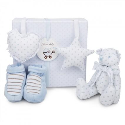Baby Geschenkset Bärchen Blau