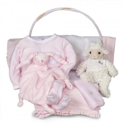 Baby Geschenkkorb Serenity Basic Rosa